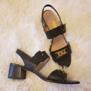 Salvatore Ferragamo buckle block heels